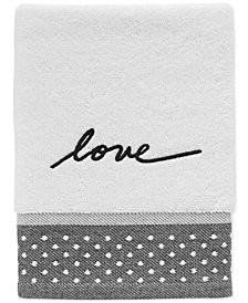 ED Ellen DeGeneres Words Cotton Embroidered Hand Towel