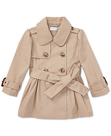 Ralph Lauren Baby Girls Water-Repellent Cotton Trench Coat