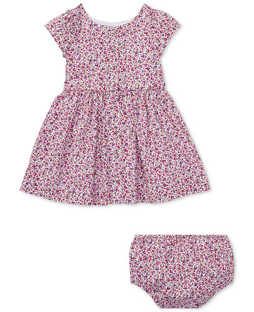 c06de82b927 Polo Ralph Lauren Ralph Lauren Baby Girls Floral Cotton Fit   Flare Dress  ...