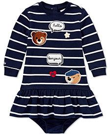 Ralph Lauren Baby Girls Striped Patch Dress