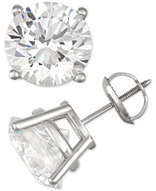 Diamond Stud Earrings (8 ct. t.w.) in 14k White Gold