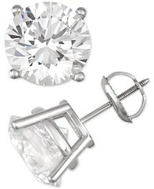 Diamond Stud Earrings (8 ct. t.w.) in 14k White Gold