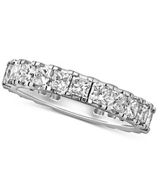 Diamond Princess Eternity Band (3 ct. t.w.) in 14k White Gold