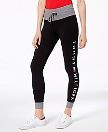 Contrast-Trim Logo Leggings