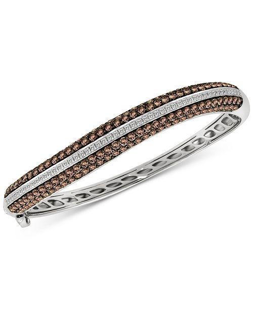 Le Vian Red Carpet® Diamond Bangle Bracelet (6-3/8 ct. t.w.) in 14k White Gold