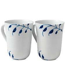 Royal Copenhagen Blue Fluted Mega Mugs, Set of 2