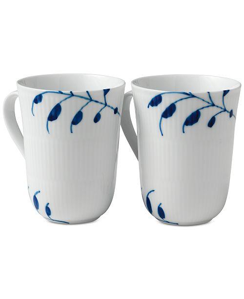 Royal Copenhagen Blue Fluted Mega Mugs, Set of 2