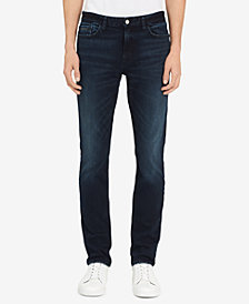 Calvin Klein Jeans Men's Boston Skinny-Fit Stretch Blue/Black Jeans