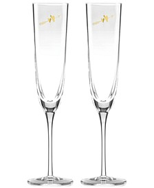 Two Hearts 2-Pc. Toasting Flute Set
