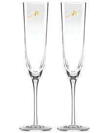 kate spade new york Two Hearts 2-Pc. Toasting Flute Set