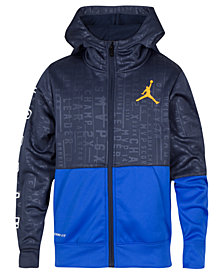 Jordan Big Boys 23 Tech Accolades Colorblocked Zip-Up Hoodie