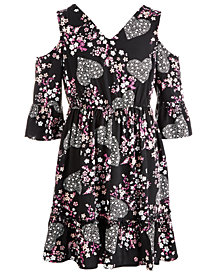 Epic Threads Big Girls Crochet-Trim Floral-Print Dress, Created for Macy's