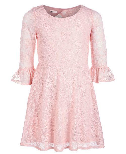 d54038ead85e ... Epic Threads Big Girls Lace Bell Sleeve Drop Waist Dress, Created for  Macy's ...