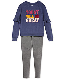 Epic Threads Big Girls Sweatshirt & Moto Pants, Created for Macy's