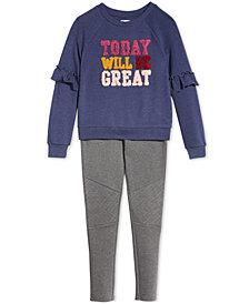 Epic Threads Big Girls Sweatshirt & Moto Pants, Created for Macy's