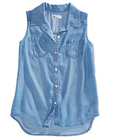 Epic Threads Big Girls Embroidered Sleeveless Shirt, Created for Macy's