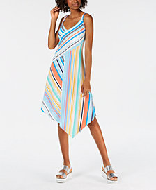 Be Bop Juniors' Striped Asymmetrical Midi Dress
