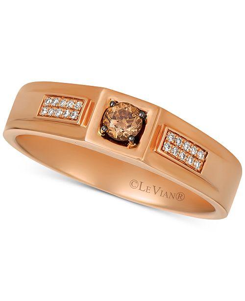 Le Vian Men's Diamond Ring (1/4 ct. t.w.) in 14k Rose Gold