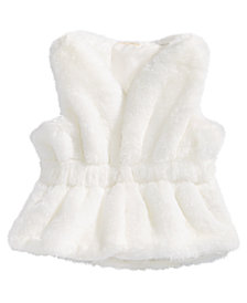 First Impressions Baby Girls Faux-Fur Vest, Created for Macy's