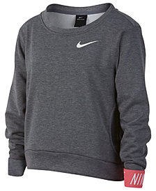 Nike Big Girls Graphic-Cuff Pullover Sweatshirt