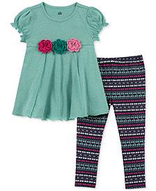 Kids Headquarters Little Girls 2-Pc. Tunic & Printed Leggings Set