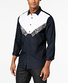 I.N.C. Men's Tuxedo-Inspired Shirt, Created for Macy's