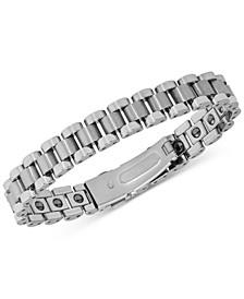 Men's Watch Clasp Link Bracelet in Tungsten