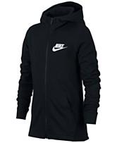 the best attitude c42fc 470d4 Nike Big Boys Full-Zip Graphic-Print Cotton Hoodie