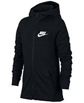5411ad3fa812 Nike Big Boys Full-Zip Graphic-Print Cotton Hoodie