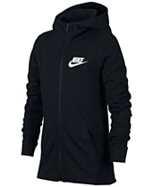 e95901665e43 Nike Big Boys Full-Zip Graphic-Print Cotton Hoodie
