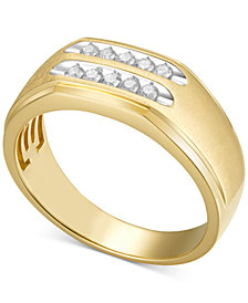 Men's Diamond Ring (1/4 ct. t.w.) in 10k Gold
