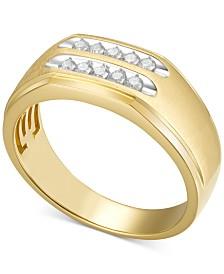 Men's Diamond Ring (1/4 ct. t.w.) in 10k Gold