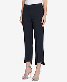 Tahari ASL Pinstriped Step-Hem Pants