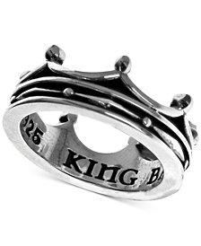 King Baby Women's Crown Ring in Sterling Silver