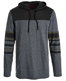 American Rag Men's Colorblocked Stripe Hoodie, Created for Macy's