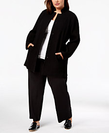Eileen Fisher Plus Size Tencel® Crepe Notched Jacket