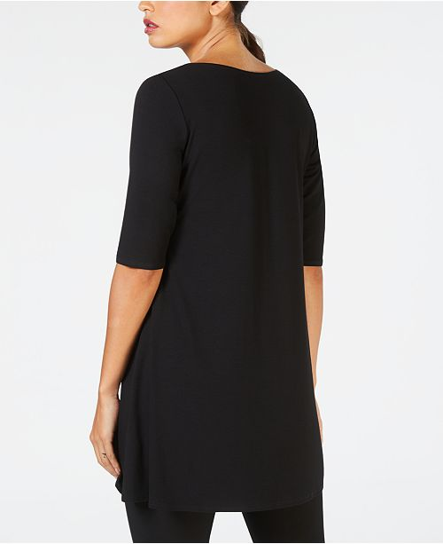Fisher Elbow Eileen Sleeve Black Tunic dnZ0wxgap