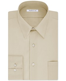 Men's Classic/Regular Fit Wrinkle Free Poplin Solid Dress Shirt