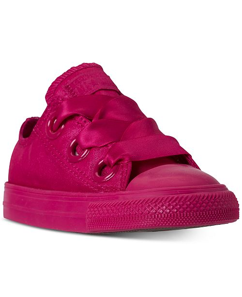 706de5f94ef195 ... Converse Toddler Girls  Chuck Taylor All Star Big Eyelets Satin Ox  Casual Sneakers from Finish ...