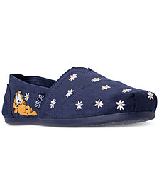 Skechers Women's Bobs Plush - Garfield Daisy Dayz Bobs for Dogs Casual Slip-On Flats from Finish Line
