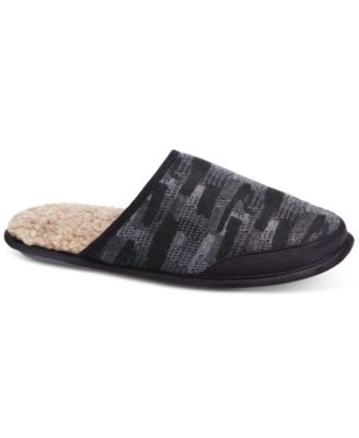 Isotoner Men's Knit Tweed Slippers With Memory Foam