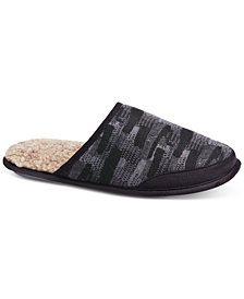 Isotoner Men's Knit Tweed Slippers