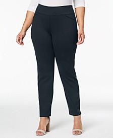 Plus Size Ponté-Knit Pants, Created for Macy's