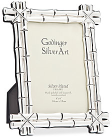 "Philip Whitney Bamboo Silver-Plated 8"" x 10"" Picture Frame"