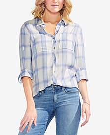 Vince Camuto Plaid Utility Shirt