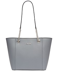 Calvin Klein Hayden Saffiano Leather Large Tote