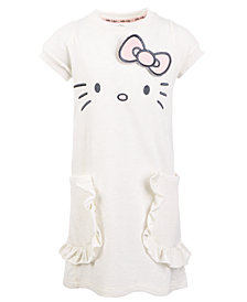 Hello Kitty Toddler Girls French Terry Embroidered Face Dress