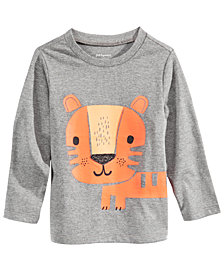 First Impressions Baby Boys Tiger-Print T-Shirt, Created for Macy's