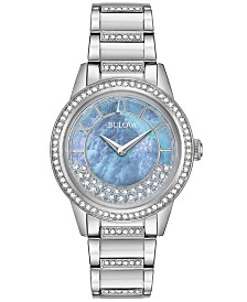 Bulova Women's Turnstyle Stainless Steel Bracelet Watch 32.5mm