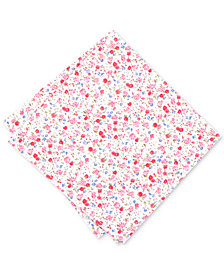 Bar III Men's Dahlia Floral Pocket Square, Created for Macy's